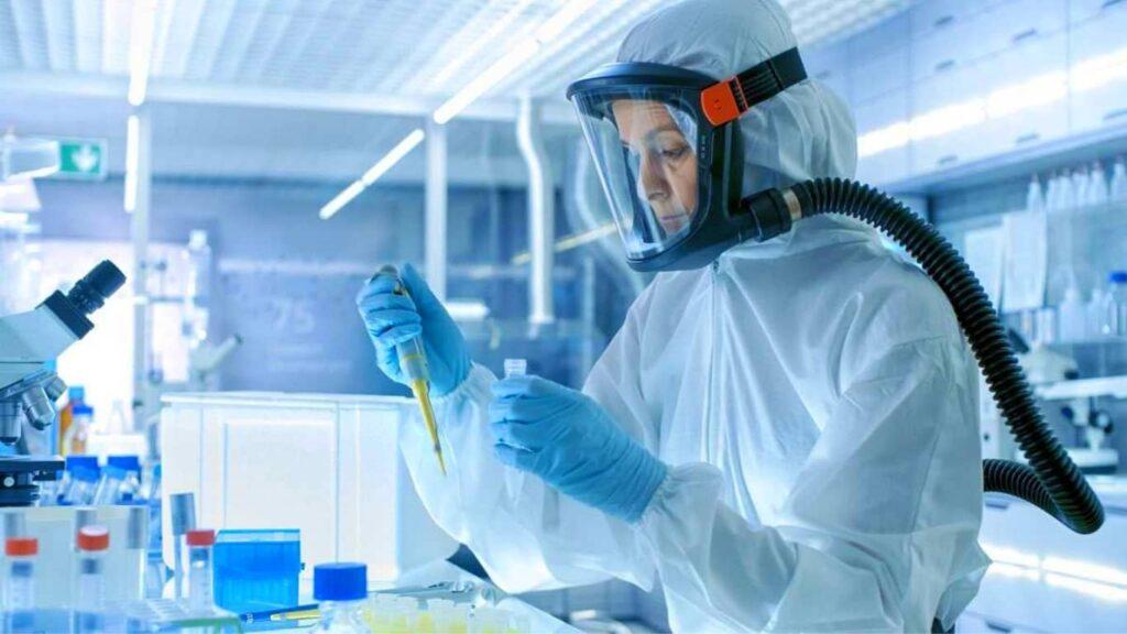 Estudio de enfermedades infecciosas en laboratorio de bioseguridad nivel 3.