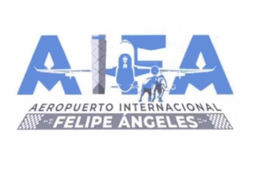 Ese fue el fallido logotipo del Aeropuerto Internacional Felipe Ángeles.